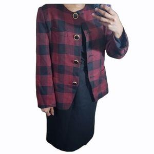 Jhon mayer blazer skirt suit plaid size 8